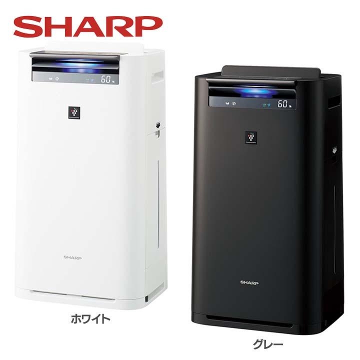 加湿空気清浄機 KI-HS70-W送料無料 空気清浄器 プラズマクラスター 16畳 クラウド対応 シャープ ホワイト・グレー【D】