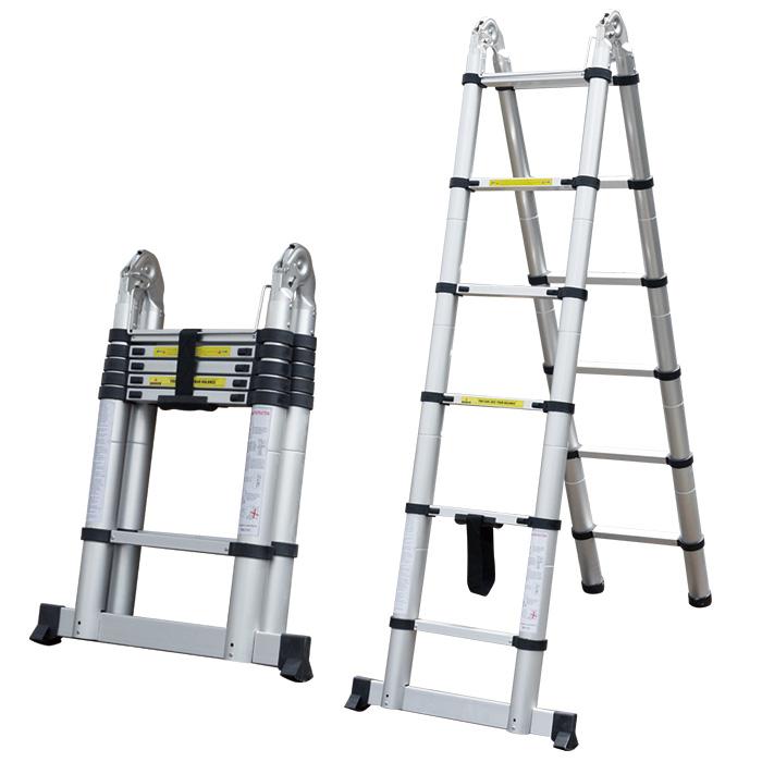 はしご 二つ折り A型 KT190D送料無料 ハシゴ 脚立 梯子 アルミ ロック DIY 【TD】 【代引不可】