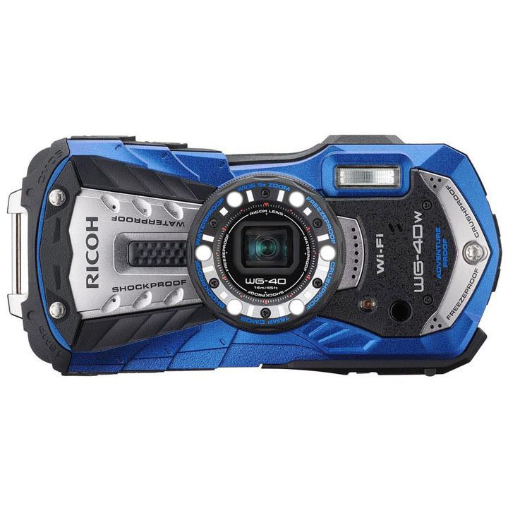 リコー 防水カメラ 特典SDHC8GB付 ブルー WG40W送料無料 カメラ 防水 デジカメ デジタルカメラ コンパクトデジタルカメラ 耐衝撃 耐寒 耐荷重 アウトドア 14m でじかめ でじたるかめら RICOH リコー 【D】