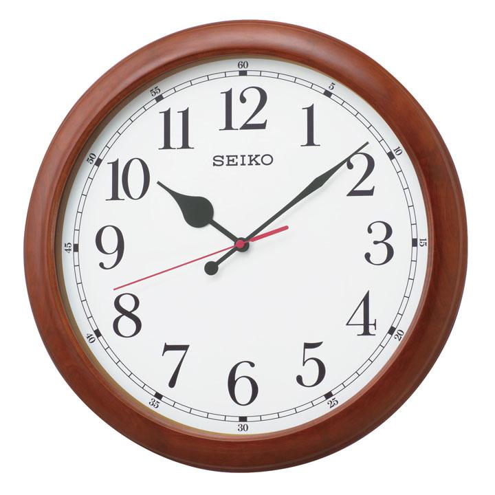 セイコー 電波掛時計 KX238B送料無料 セイコークロック seikoclock ウォールクロック 壁掛け時計 掛け時計 電波時計 アナログ時計 電池 SEIKO セイコー 茶木地【D】