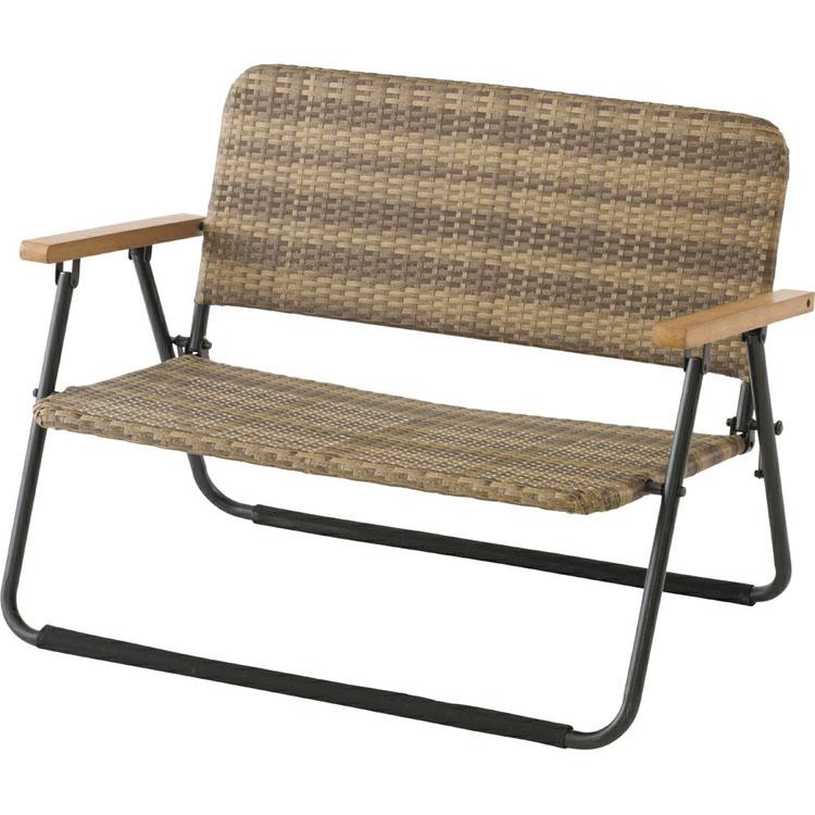 フォールディングウィッカーベンチ NTP2258送料無料 ベンチ ガーデンチェア チェア ガーデン 椅子 イス ガーデンファニチャー テラス バルコニー 【D】