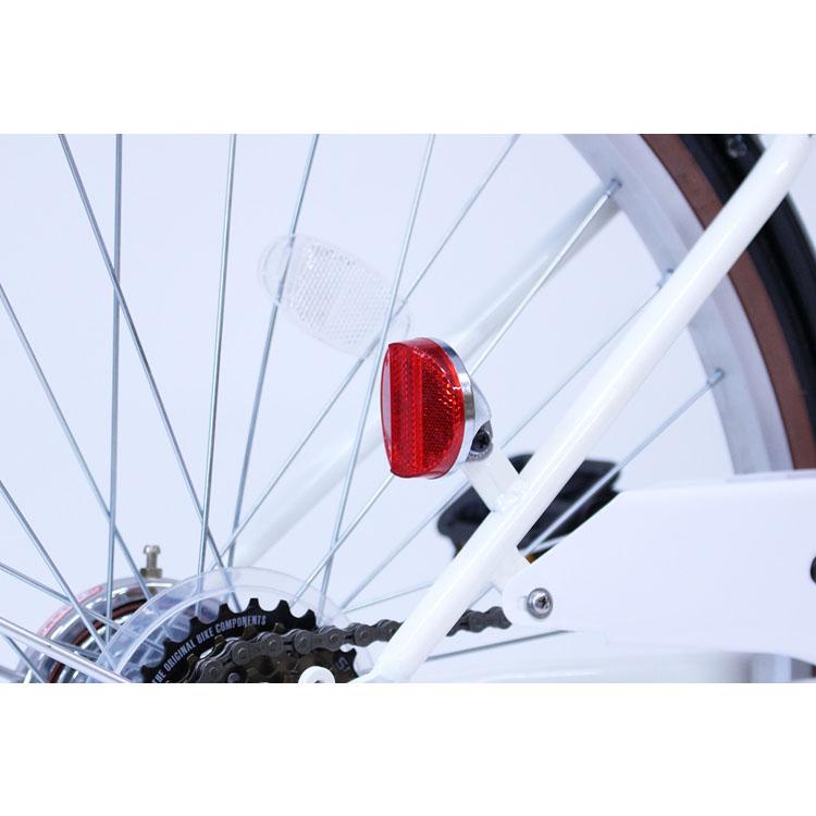 自転車折り畳み白通勤通学お出かけCITROENシティサイクルFDB266SGバニラホワイトミムゴ