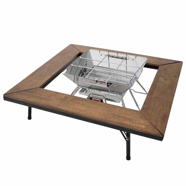 アイアンウッド囲炉裏テーブル 81064133送料無料 アウトドアテーブル 和テイスト たき火 いろり 古材風 LOGOS キャンプ アウトドア 調理 ロゴス 【D】【B】