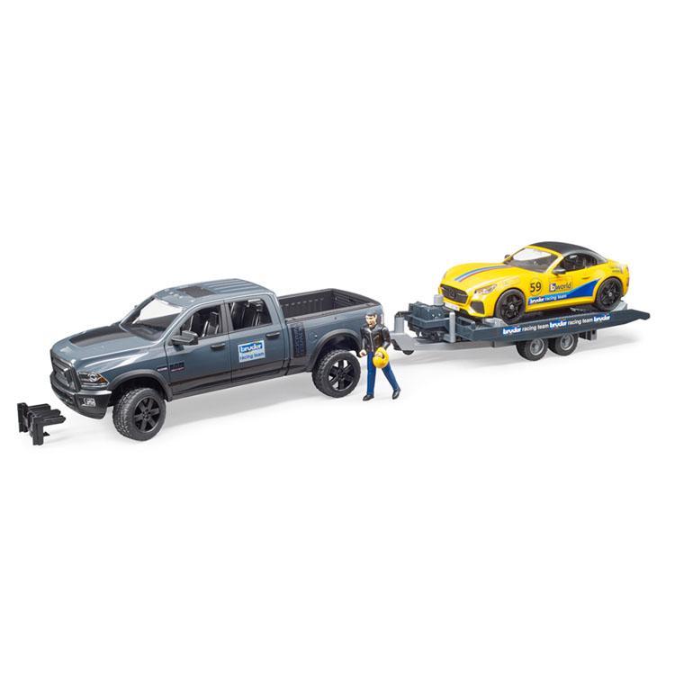 Ram パワーワゴン&BRUDERロードスター(レーシング仕様) 送料無料 JOBインターナショナル bruder はたらくくるま パワーワゴン 子供 プレゼント 誕生日 車 くるま おもちゃ ブルーダー 【D】