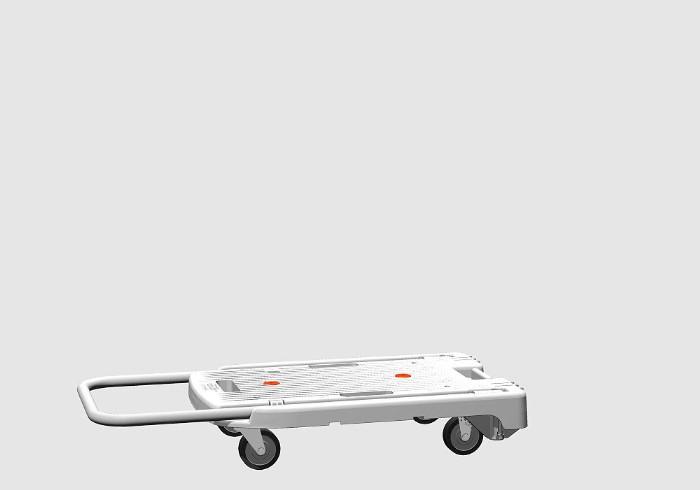 推車片斷打開,折疊你白載荷重量100kg桁架共(TRUSCO)小型樹脂製造推車小型輕量省音推車搬運車機會ritatamikomawarikun飛翔距離推車解說員手推推車運輸搬運,供平推車業務使用的家庭事情白白