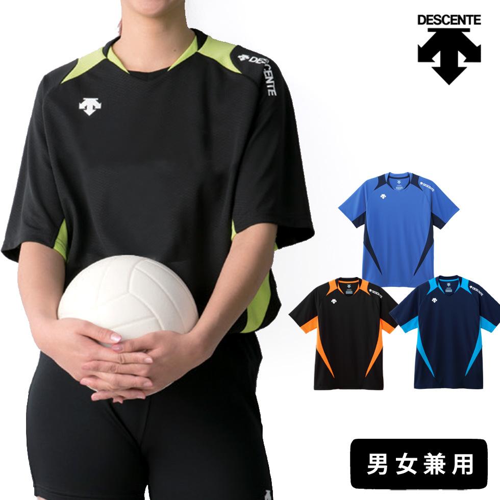 メール便 オンラインショッピング 対応 ゆったり着られる男女兼用モデル メンズ レディース ユニセックス 練習 練習着 ライトゲームシャツ プラシャツ 半袖 バレーボール 男女兼用 セットアップ ウェア デサント シャツ Tシャツ MT2 バレー DSS-5420