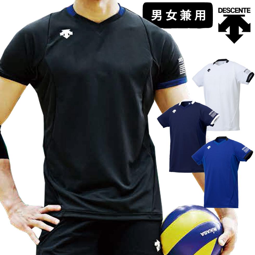 メール便 対応 ゆったり着られる男女兼用モデル メンズ レディース 大特価!! ユニセックス 練習 練習着 ライトゲームシャツ プラシャツ バレーボール 半袖 デサント DSS-5920 シャツ バレー ウェア MT2 大規模セール 男女兼用 Tシャツ