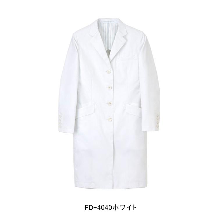 ナガイレーベン ドクターコート 白衣 診察衣 医療 レディース シングル 長袖 FD4040
