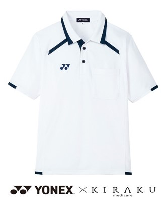 YONEX×KIRAKU ニットシャツ スポーツ 介護 吸汗速乾 男女兼用 半袖 CARE&COMFORT トンボ CY300