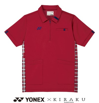 YONEX×KIRAKU ケアワークシャツ 吸汗 速乾 制電 男女兼用 半袖 CARE&COMFORT トンボ CY301