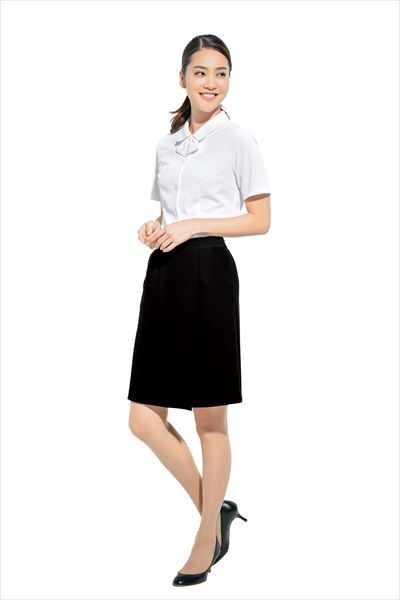 キュロットスカート HCC4000 54CM丈 ストレッチ オフィス ビジネス 制服 3~15号 アイトス AITOZ