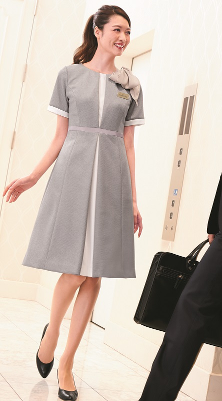 ワンピース 7730 5号~19号ストレッチ 高級感 ブライダル 受付 ホテル 接客 ハネクトーン HANECTONE