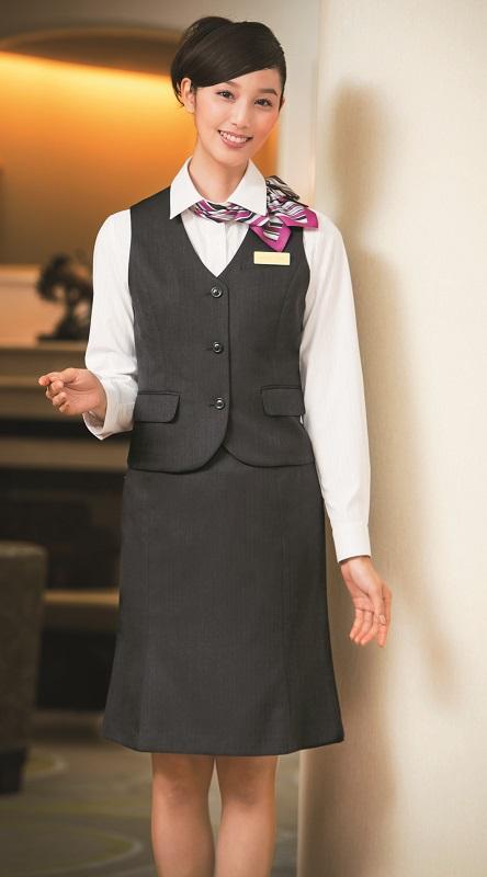 スカート ROPE STYLE R854 ミニヘリンボーン 5号~19号 マーメイド JUNとのコラボ オフィス 受付 接客 ホテル ハネクトーン HANECTONE