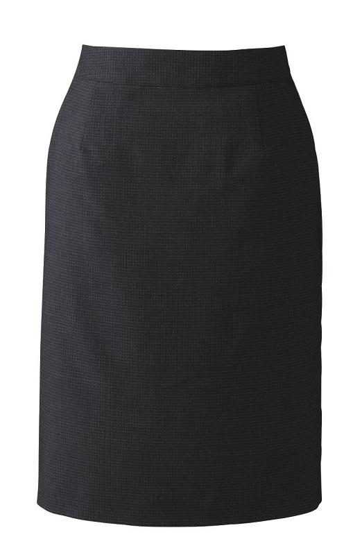 スカート 8999 5号~19号 セミタイト 深みのあるベリーチェック オフィス 受付 接客 ハネクトーン HANECTONE