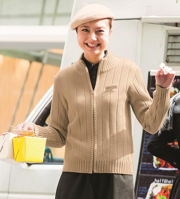 カーディガン WP154 レディース M~LL 静電繊維 毛玉防止 カフェ 販売員 飲食店 接客 ハネクトーン HANECTONE