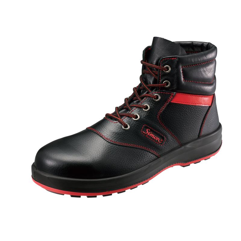 安全靴 SL22-R 黒/赤 作業靴 シモン