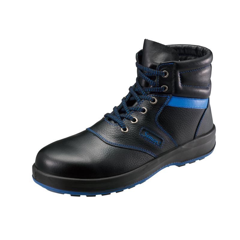 安全靴 SL22-BL 黒/ブルー 作業靴 シモン