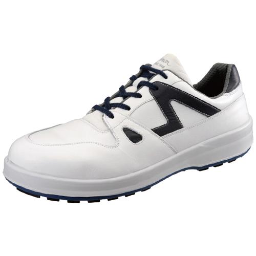 安全靴 8611 白/ブルー 作業靴 シモン