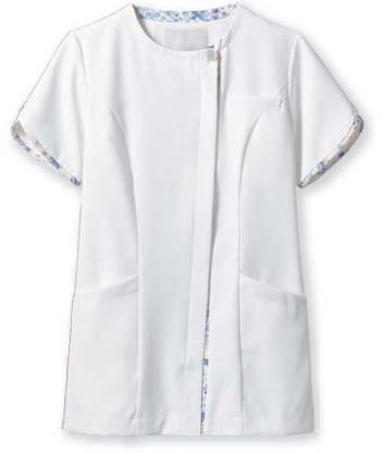 【医療白衣】ナースジャケット(半袖) LW802 ローラアシュレイ 住商モンブラン