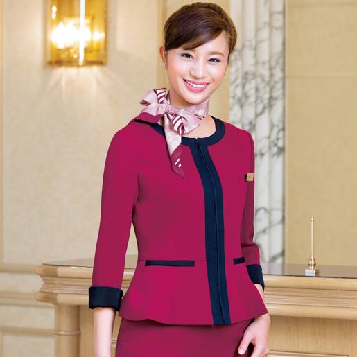 印象的な色を加えた個性が際立つジャケット。 【事務服】ジャケット 9168 ハネクトーン早川