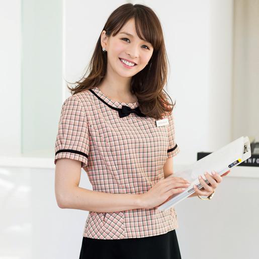 【事務服】プルオーバーブラウス(ブローチ付) 46440 アンジョア