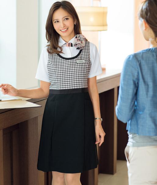 【事務服】ジャンパースカート 66390 アンジョア