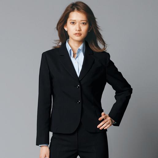 ちょっぴり細身のジャケットですっきり美人! 【事務服】ジャケット 81370 オールシーズン アンジョア