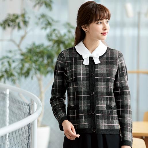 【事務服】ニットジャケット 81800 アンジョア