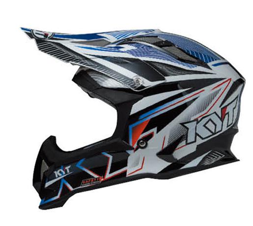 KYTヘルメット STRIKE EAGLE ストライクイーグル ストライプ ブルー フロー KYT ケーワイティ SG規格 MFJ公認 YJEA0001