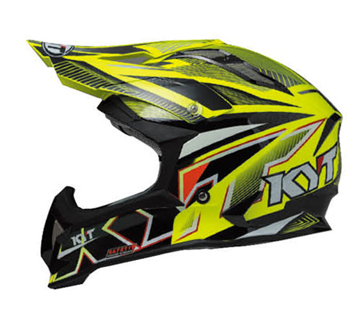 KYTヘルメット STRIKE EAGLE ストライクイーグル ストライプ イエロー フロー KYT ケーワイティ SG規格 MFJ公認 YJEA0002