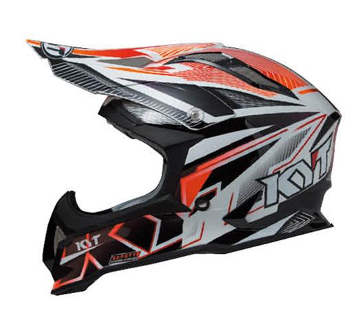 KYTヘルメット STRIKE EAGLE ストライクイーグル ストライプ ホワイト/レッド フロー KYT ケーワイティ SG規格 MFJ公認 YJEA0003