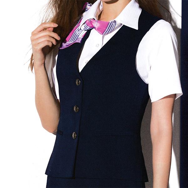 事務服 春夏ベスト S-03901 S-03902 クールトリクシオン セロリー
