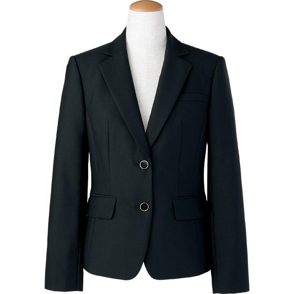 上質シンプルなブラックジャケット♪スタイルアップシルエット 事務服 ジャケット S-24480 セロリー アーバンナチュラル