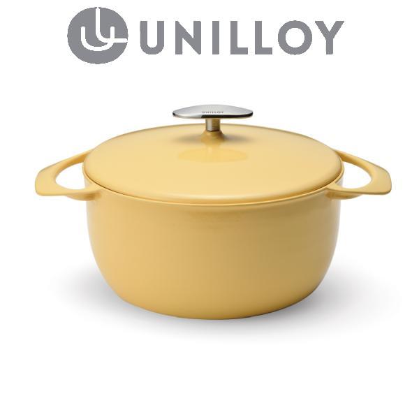 【燕三条製】軽い! ユニロイ (公式ショップ) 鋳物ホーロー鍋 キャセロール22cm (IHオール熱源対応)