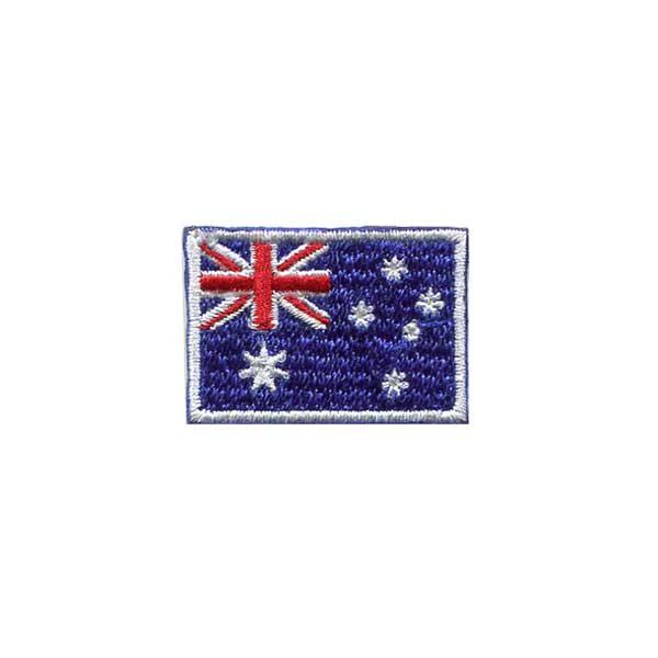 オーストラリア国旗 捧呈 国旗ワッペン オーストラリア DM便選択可 35mm お得 アイロン接着
