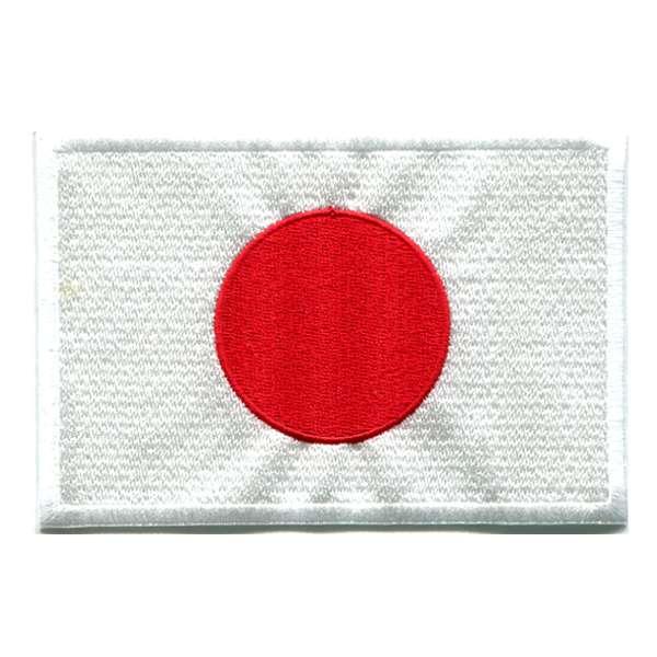 激安通販販売 日本国旗 国旗ワッペン 迅速な対応で商品をお届け致します 日本 DM便選択可 アイロン接着 80mm