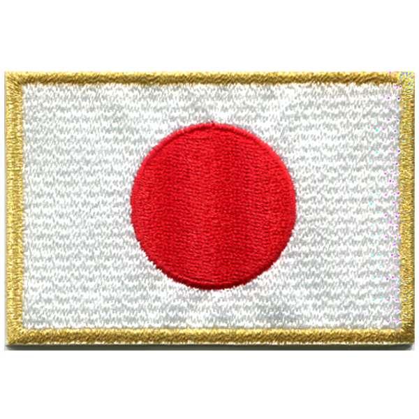 日本国旗 金糸 国旗ワッペン 日本 DM便選択可 激安 激安特価 送料無料 全国一律送料無料 アイロン接着 120mm