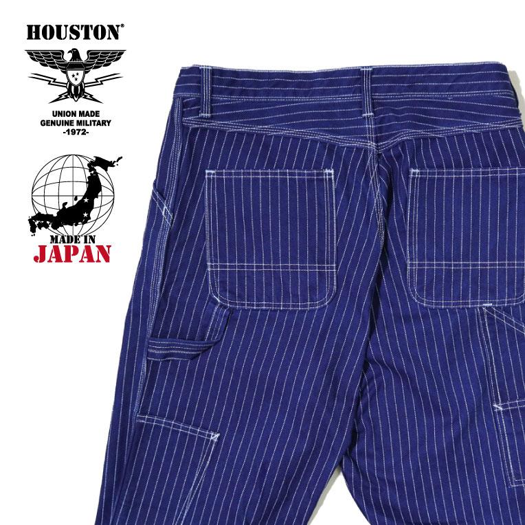 2019A/W『HOUSTON/ヒューストン』 1917 WABASH PAINTER PANTS / ウォバッシュ ペインターパンツ -全1色-/日本製/made in japan/ワークウェア/コットン/ストライプ/【チケット対象】[1917]