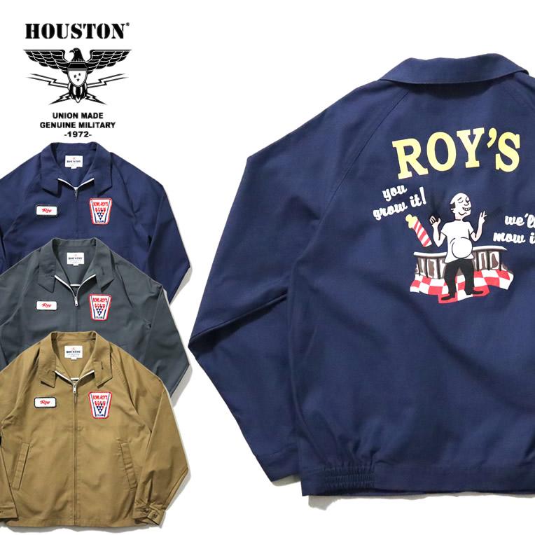 2020S/S『HOUSTON/ヒューストン』51000 BOWLING JACKET (ROY'S) / ボウリング ジャケット -全3色- / ボーリング / ビンテージ / パッチ / ユニオンネットストア[51000]