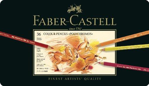 ファーバーカステル ポリクロモス色鉛筆 36色 缶入110036 [日本正規品]