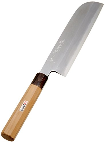堺孝行 シェフ和庖丁 銀三鋼 鎌型薄刃 21cm 4055