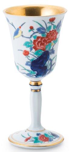 海外並行輸入正規品 有田焼 賞美堂本店 染錦牡丹文 ワインカップ S-3380 un 大 セール商品