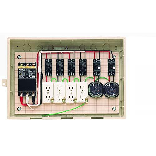 未来工業 屋外電力用仮設ボックス 漏電しゃ断器・分岐ブレーカ・コンセント内蔵 ELB組込品 15-42HC4[un]