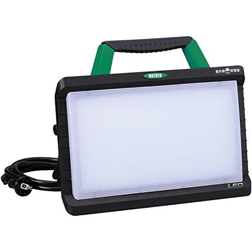 ハタヤ(HATAYA) LEDワークライト 屋外用 3800Lm 昼光色 5000K 3mコード付き 防雨型2Pプラグ付き 明るさ2段階切替式 グリーン LWY-45G[un]
