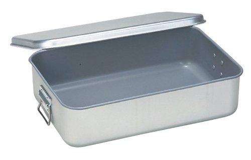 アルマイト 飯缶(蓋付)小学校用(スミフロン加工)H110 262