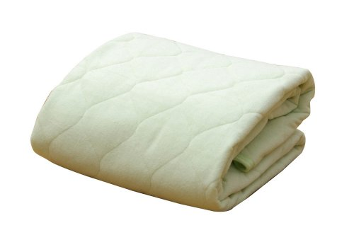 イケヒコ 敷きパッド ダブル 寝具 洗える 無地 ヒバエッセンス使用 『ヒノール』 グリーン 約140×205cm[un]
