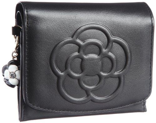 [クレイサス] CLATHAS ワッフル ソフトスムースカメリア BOX折り財布 185435 10 (黒)
