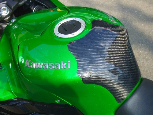 クレバーウルフレーシング(CLEVER WOLF Racing) タンクプロテクター 綾織 CFRP/カーボン ZX-14R (12-) ZX14-108-03