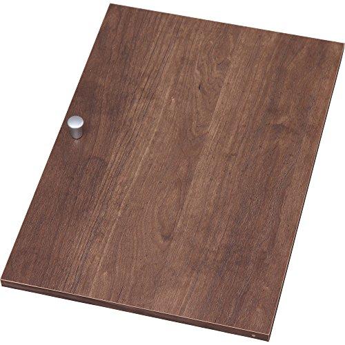 アイリスオーヤマ カラーボックス 木製扉 横置き専用 幅26.9×奥行3.4×高さ38.4cm ブラウン CXD-27W[un]