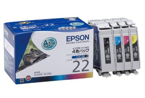 EPSON 純正インクカートリッジ IC4CL22 インクカートリッジ4色パック[cb]
